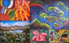 Ellen van Randeraat - cursus 'schilderen met acryl' Art Sketchbook, Colour, Painting, Shop Signs, Kunst, Color, Painting Art, Paintings, Gcse Art Sketchbook