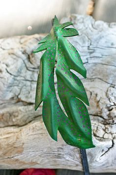 Items similar to Dino: Green Leather Feather Headpiece on Etsy Feather Headpiece, Green Leather, Plant Leaves, Plants, Etsy, Plant, Planting, Planets