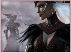 Dragon Age 2 - Flemeth  by ~Sathar-Qndy