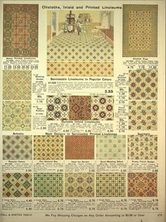 Oilcloths and Linoleum Designs 1920 by CharmaineZoe, via Flickr
