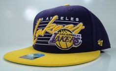 NEW 47 BRAND LOS ANGELES LAKERS NBA SNAPBACK BLOCKHOUSE MENS SPORT YELLOW  HAT 03d13f01b2c8