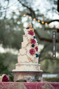 Wow! - Amazing southern vintage wedding cake! // photo by Jordan Weiland Photography | CHECK OUT MORE GREAT RED WEDDING IDEAS AT WEDDINGPINS.NET | #weddings #wedding #red #redwedding #thecolorred #events #forweddings #ilovered #purple #fire #bright #hot #love #romance #valentines