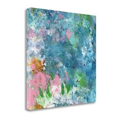 Tangletown Fine Art Last Dance By Linda Woods, Gallery Wrap Canvas, Green