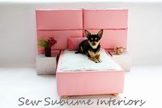 Bespoke Divan Style Pet Bed from Not On The High Street. Saved to Awesome Stuff. Pet Beds, Doggie Beds, Doggies, Diy Dog Bed, Amazing Spaces, Cute Pink, I Love Dogs, Small Dogs, Toy Chest