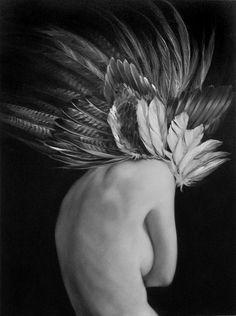 Amy Judd - Art - Peinture - Portrait - Animaux - Girls and birds Art Du Monde, Tv Movie, Illustration Art, Illustrations, Photoshop, White Photography, Photography Magazine, Human Body, Photo Art