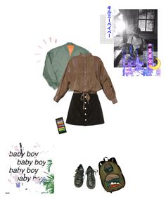 """// BABY BOY //"" by little-space-girl ❤ liked on Polyvore featuring Dr. Martens, AG Adriano Goldschmied and Valentino"