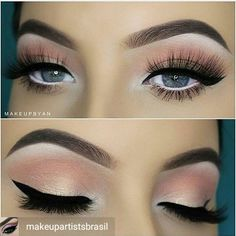 Beautiful Soft Eye Makeup Look / Brown and Warm Tones w/ Liquid Eyeliner and Lashes