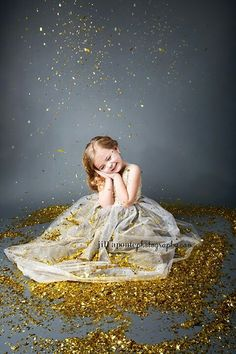 #Glitter + little girls = so much fun for her to be #glam