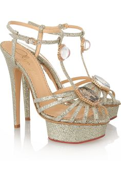 daa735bfd69 Shop for Leading Lady glitter-finished sandals by Charlotte Olympia at  ShopStyle.