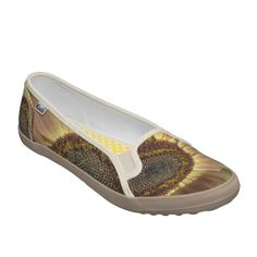 Beautiful Day Sunflower Womens Slip on Shoes