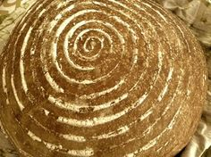 My Sourdough 3:1:1:1, baked today and proofed in a traditional willow banneton basket. From author Christa Parrish @ her blog, Breaking the Sea.