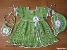 Little Princess Katya Dress, Hat and Bag crochet inspiration