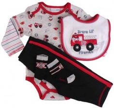 infant boys fireman clothing | Vitamins Baby Newborn Boys Fireman Pant Set | Treasure Box Kids' Blog