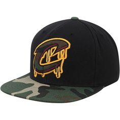 low priced 055b7 0c216 Cleveland Cavaliers Mitchell   Ness Hardwood Classics Camo Drip Adjustable  Hat – Black, Your