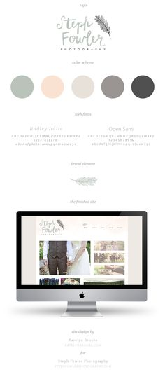 Steph Fowler Photography, branding and web design by Katelyn Brooke. A very elegant way to present your brand. Website Design Inspiration, Blog Design, Graphic Design Inspiration, Brand Design, Identity Design, Brand Identity, Branding Kit, Branding Ideas, Photography Branding