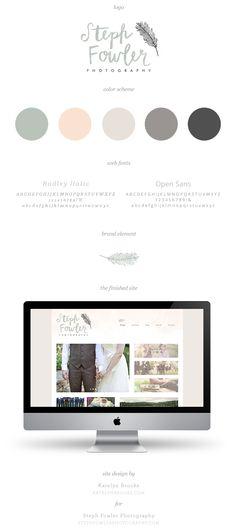 Steph Fowler Photography, branding and web design by Katelyn Brooke    katelynbrooke.com