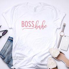 Boss Babe Babe T Shirt, Mama Shirt, Boss Shirts, Cute Shirts, Boss Babe Motivation, Corona T Shirt, Baby Girl Shirts, T Shirts With Sayings, Shirt Shop