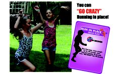 Go CRAZY and Be totally Silly with Flip2BFit while Running in Place -- Move your body everyday!!!  www.Flip2BFit.com