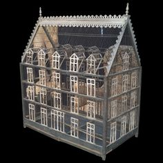"Monumental Victorian Birdhouse.. wood, zinc details, intricately designed  England circa 1890-1900  42.25"" h x 20"" w x 35.5 l"