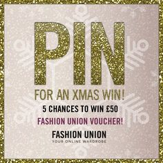 Fashion Union Pin To Win Competition!