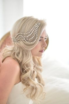 Unique Wedding Veil Alternative Modern bridal headpiece by danani