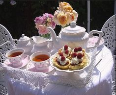 A delightful tea table.