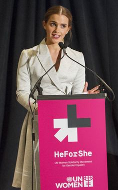 "Emma Watson's prolific and important ""HeForShe"" UN speech this year. #genderequality #HeForShe"