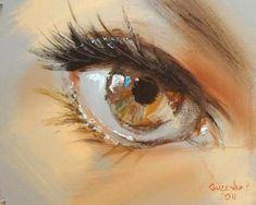 Spectacular Oil Paintings of Twinkling Eyes - My Modern Metropolis #OilPaintingGirl #OilPaintingFace