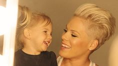 Pink and daughter Willow: Pic courtesy of Marie Claire. Picture: Andrew Macpherson for Marie Claire