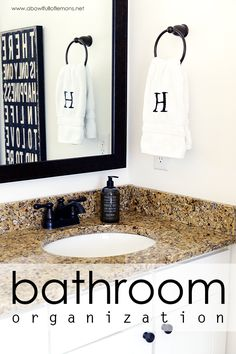 Get your bathroom organized and tidy with these great tips from A Bowl Full of Lemons. Create a space that makes morning pleasant and a relaxing bath all the more relaxing.