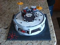 Drum Birthday Cake by Mary's Cakes & Edible Creations, via Flickr