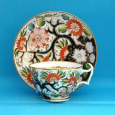 New Hall Cup Saucer c1820 Pattern 1153