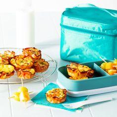 Mini-quiches jambon et bacon - 5 ingredients 15 minutes Mini Quiches, Les Croquettes, Bacon, Le Diner, Clean Eating, Brunch, Food, Veggie Bake, Savoury Tarts