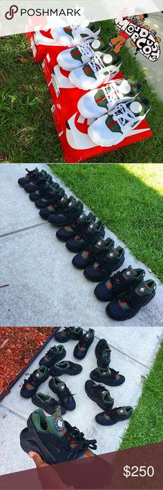new style 502d5 f3f9a Gucci huaraches Custom Gucci huaraches Nike Shoes Sneakers