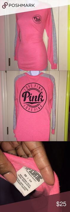 Long Sleeve PINK Victoria's Secret PINK T-shirt From the PINK PARTY Collection PINK Victoria's Secret Tops Tees - Long Sleeve