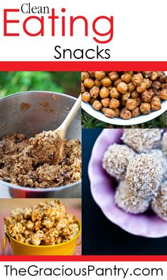 Clean Eating Snacks, cleaneating, eat clean, cleaneatingrecipes, snacks, snack recipes, lots of snack options