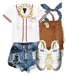 """"""":)"""" by livelifefreelyy ❤ liked on Polyvore featuring Michael Kors, Converse and Fendi"""