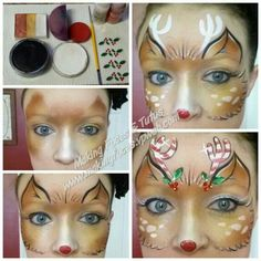 Face painting on pinterest face paintings reindeer and reindeer