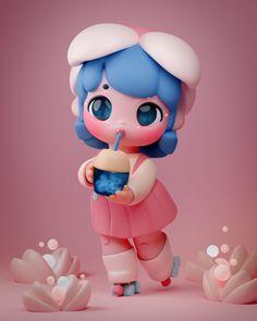 3d Model Character, Character Art, Character Design, Cute Wallpaper Backgrounds, Cute Wallpapers, Zbrush, Modelos 3d, Dibujos Cute, Pokemon