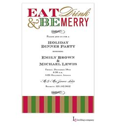 Christmas Cocktail Party Invitations Partyinvitations Com