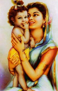 """""""Before His personal appearance, the Lord causes some of His devotees to appear as His mother, father and intimate associates. He then appears later as if He were taking birth and growing from a baby to a child and gradually into a youth.""""- CC Madhya 20.379"""