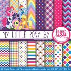 Etsy listing at https://www.etsy.com/listing/179381920/my-little-pony-digital-paper-patterns