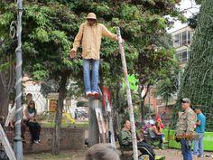 Street artist, Usaquen market