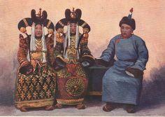 """Family of khalkha mogolian duke, 1915 . from book """"Mongolia"""" by Imshenecky"""