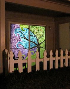 "DIY ""stained glass"" tissue paper Window Mosaic: I want to do this on some small windows in my new apartment! only I think I'll get a piece of plexi & frame, not straight on the window"