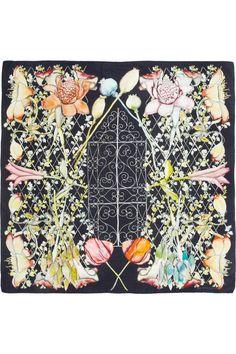 i love Swash|Midnight Heligan printed silk scarf|NET-A-PORTER.COM