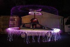 tesla coils car burglar alarm