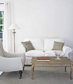 Color could turn this room from dreary to cheery.