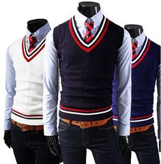 Purchase Men's Knite Business Casual Slim Fit Dress Vest Tuxedo Tops 4 Color Size M-XXL from on OpenSky. Blue Sweater Outfit, Navy Blue Sweater, Men Sweater, Back To School Uniform, School Uniforms, Kids Uniforms, Slim Fit Dresses, Vest Outfits, Men Formal