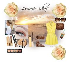 """""""Summer"""" by mimsy-chan ❤ liked on Polyvore featuring QNIGIRLS, O'Neill, Dorothy Perkins, Tory Burch, Stila and Yves Saint Laurent"""